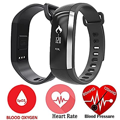 Relee Intelligent Heart Rate Blood Oxygen Pressure Monitor Sport Smart Band Bluetooth Sleep Monitor Fitness Tracker Bracelet For IOS & Android