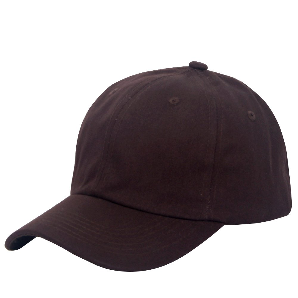 E-forest hair Cotton Plain Baseball Cap Adjustable .Polo Style Low Profile(Unconstructed hat)