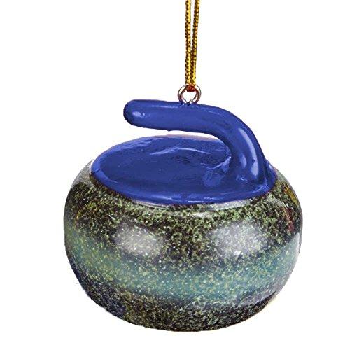 Curling Rock Tree Ornament: Royal Blue - Curling Rocks