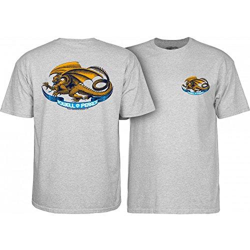 Powell-Peralta Oval Dragon Gray Medium T-Shirt, ()