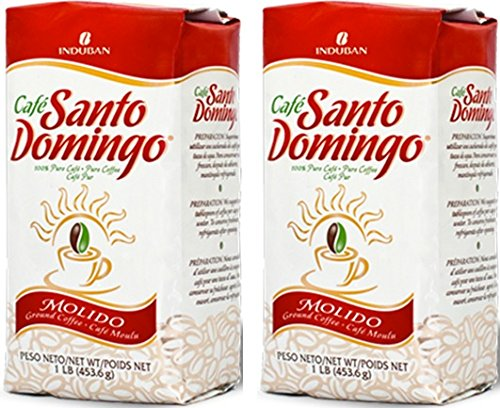 Cafe Santo Domingo 100% Pure Ground Coffee 16 OZ (2 pk)