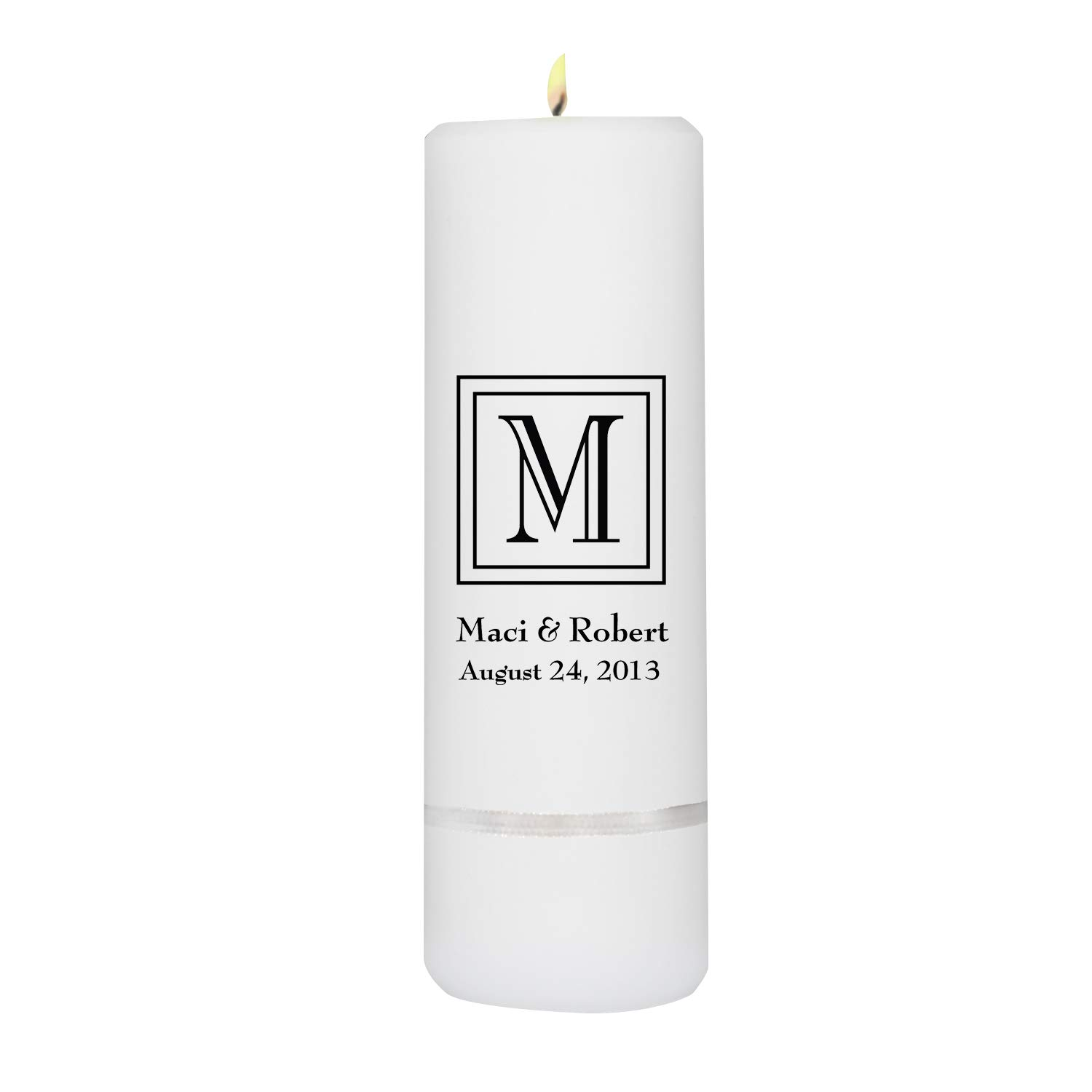 Personalized Unity Candle - Personalized Unity Wedding Candle - Wedding Gift - Monogrammed Unity Candle - 3''x 9'' by A Gift Personalized