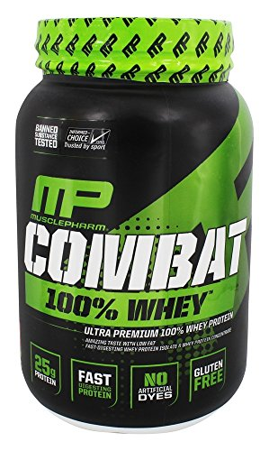 Cheap MusclePharm Combat 100% Whey Protein Powder, Strawberry, 2 Pound
