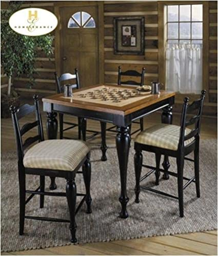 Ordinaire 5pc Cottage Style Counter Height Game Table U0026 4 Barstools Set