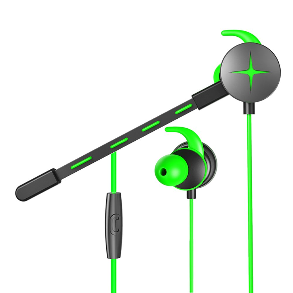 Zahara Gaming Earphone, Stereo E-Sports Earbuds Bass in-Ear Headphones with Dual Mic 3.5 MM Supports for Nintendo Switch, Xbox One, PS4, PC Laptop and Smart Phones (Green)