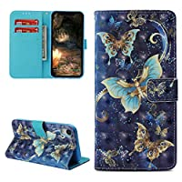 iPhone XR Case, iPhone Xr 6.1 inch 2018 Case Wallet 3D Painting Leather Cover Kickstand Multi Card Slot Shock Absorption Bumper Magnetic Closure Shell Skin iPhone XR 6.1'' Edauto