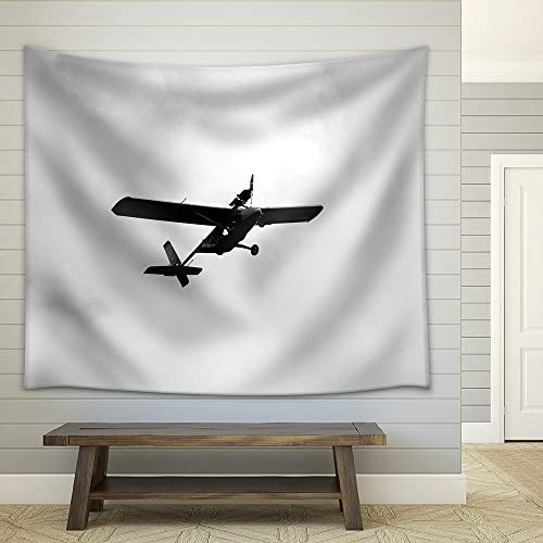 Ultralight Weight Airplane Flying in The Sky Fabric Wall