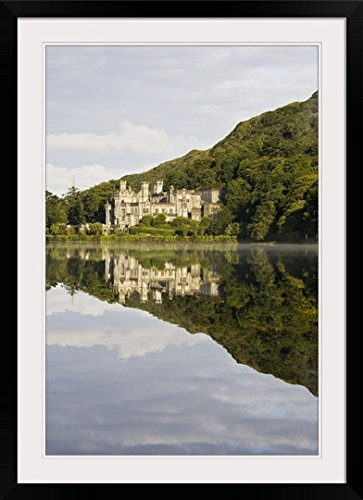 greatBIGcanvas Kylemore Abbey, County Galway, Ireland by Peter McCabe Photographic Print with Black Frame, 24