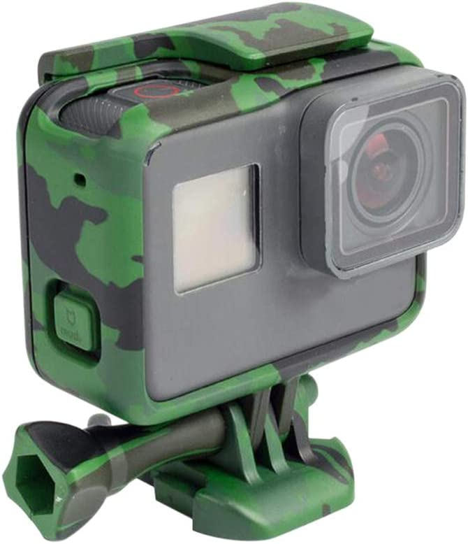Ansemen Camouflage Protecteur Cadre Rayonnant Bo/îtier C/ôt/é Rechargeable Case avec Support Vis Kits Fit GoPro Hero 7//H/éro 6//H/éro 5 Action Cam/éra