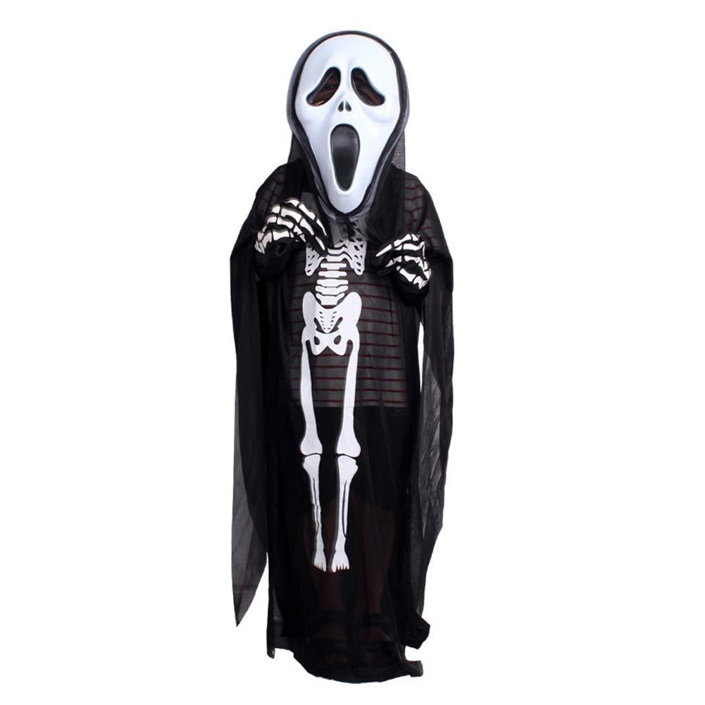 Amazon.com: Kids Skeleton Bone Suit Halloween Costume ...