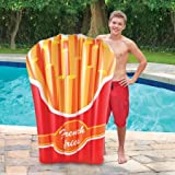 Kids Teen Adult Backyard Fun Play Float Lounge Slide Inflatable Center Summer Outdoor Pool Fun Swimming French Fries