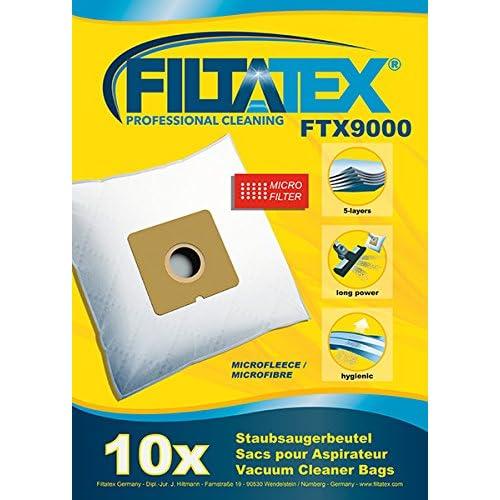 10 x FILTATEX Sacs aspirateur Carrefour home HVC 180 / carrefour HVC180-12 - carrefour hvc 180 / carrefour hvc 180 12 1800w