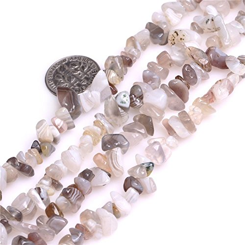 5-8mm Botswana Agate Chips Chip Beads Loose Gemstone Beads for Jewelry Making Strand 35 Inch Agate Gemstone Chip Beads