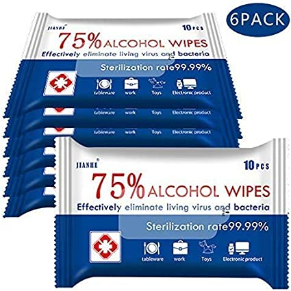 Alcohol Wipes 75% Alcohol Detergent Wipes, Large Wet