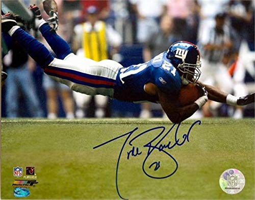 Tiki Barber autographed photo (New York Giants Teams All Time Leading Rusher) size 8x10 image #12 ()
