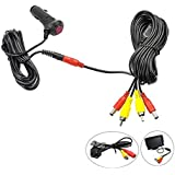 REARMASTER 12V Cigarette Lighter Power Supply Kit for Car rear view camera and Monitor with RCA connection