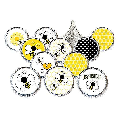 Bumble Bee Baby Shower Favor Stickers, 324