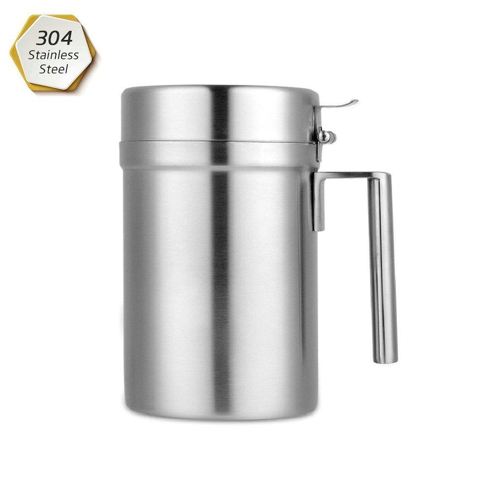 GuDoQi Olive Oil Dispenser 304 Stainless Steel Oil Bottles Leakproof Kitchen Oil Vinegar Cruet (18Oz)