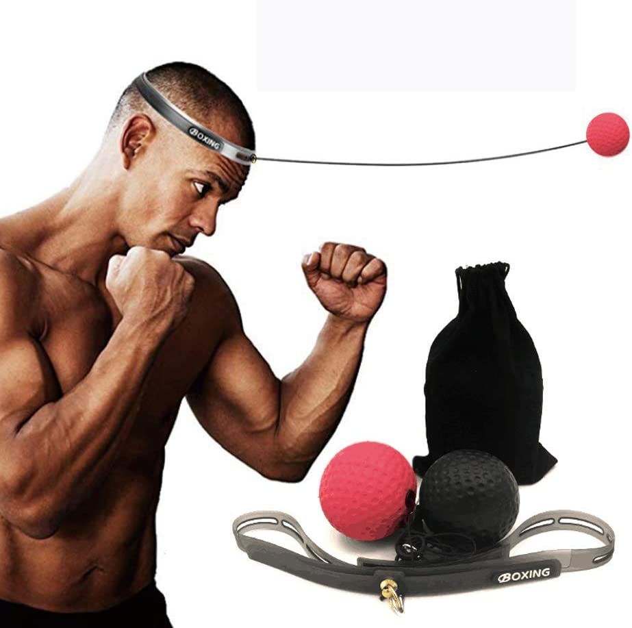 Boxing Speed Ball Reflex Exercise Fight Punch Training Balls Silicone Sweat Band