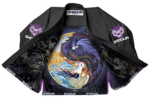 Shogun Fight Jiu Jitsu Gi Tao Premium 450g Pearl Weave Cotton BJJ black, a3