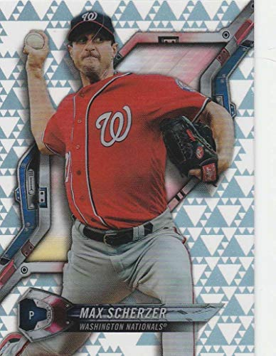 2018 Topps High Tek Pattern 3 Triangles #HT-MS Max Scherzer Washington Nationals Baseball Card