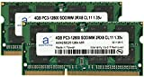 Adamanta 8GB (2x4GB) Memory Upgrade for Asus VivoPC Mini Series VM62N DDR3L 1600Mhz PC3-12800 SODIMM 2Rx8 CL11 1.35v RAM
