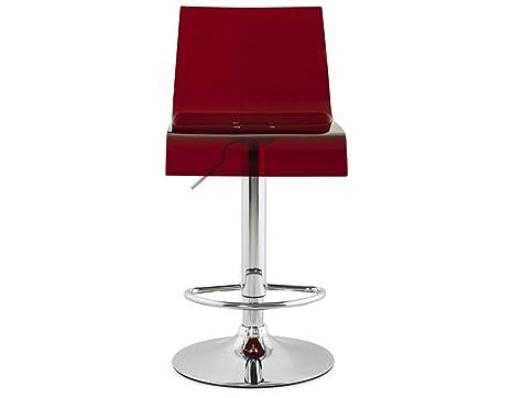 Kokoon design sgabello plexi rosso in abs sgabelli: amazon.it: casa