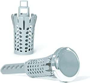 "Drain Strain Drain Clog Preventing Pop-Up Strainer with 2 Hair Catcher Baskets Fits Most 1.25"" - 1.5"" Bathroom Sinks, Chrome"