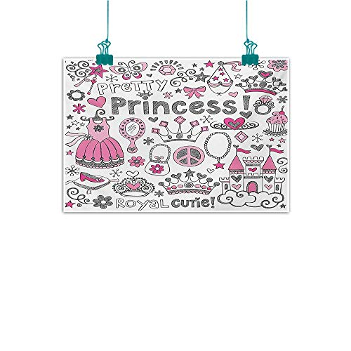 Warm Family Princess Simulation Oil Painting Fairy Tale Princess Tiara Crown Notebook Doodle Design Sketch Illustration Decorative Painted Sofa Background Wall 28