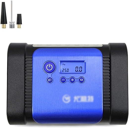 CLDZ-Grapadora 12V 150W Digital Neumático Compresor de Aire Portátil Bomba con Luz LED, Manómetro Digital para Automóviles Moto de la Bici Baloncesto Inflables COMPRESOR -Portable (Color : Blue): Amazon.es: Hogar