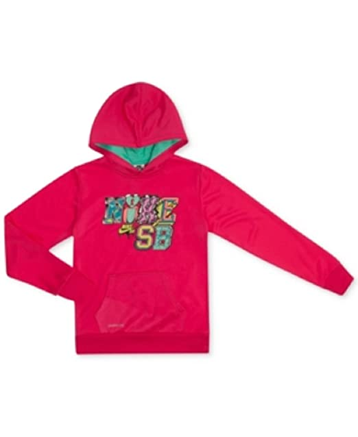 5f33f0cf3 Image Unavailable. Image not available for. Color  Nike SB Girls Logo Pullover  Hoodie XL Pink
