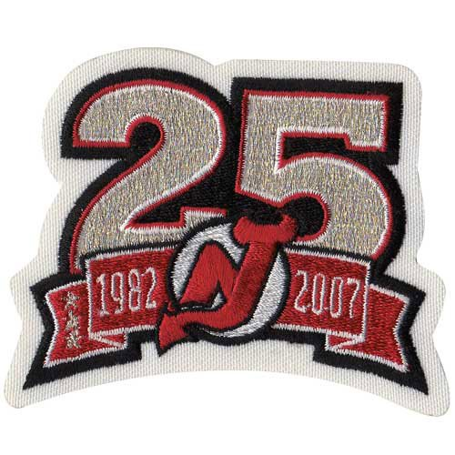 (New Jersey Devils 25th Anniversary Patch)