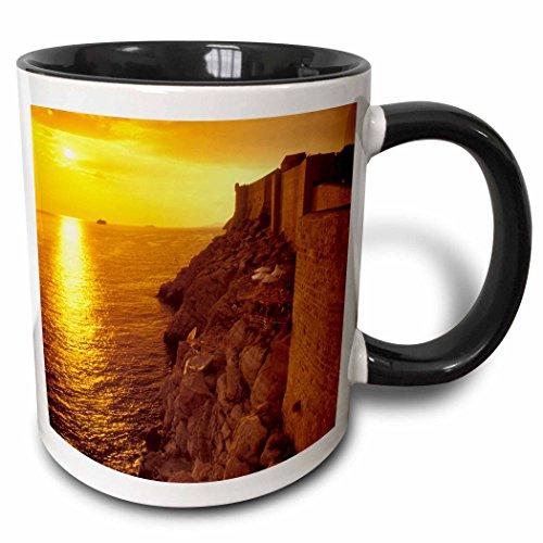 3dRose Danita Delimont - Sunsets - Sunset, Adriatic Sea, Dubrovnik, Croatia - EU32 BBR0124 - Brent Bergherm - 11oz Two-Tone Black Mug (mug_82676_4) ()