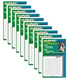 MiniPLOT Graph Paper Pads-10 pads of 3x3 inch pre-printed coordinate grid paper. Each pad has 50 sheets of releasable adhesive backed graphs with NO AXIS. Grid = 20x20 squares. Use for homework