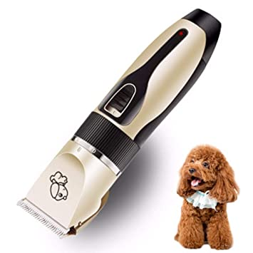 Kit Eléctrico Cortapelos para Perros Mascotas Gatos,Profesional Rechargeable USB Inalambrica Maquina Cortar Pelo Bajo Ruido Y Vibración 5 Velocidades ...