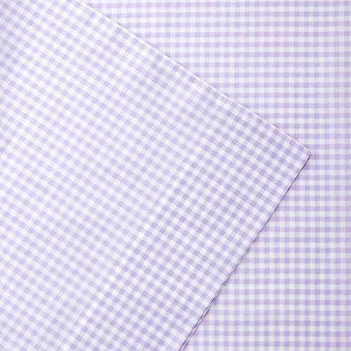 Mi-Zone Gingham Sheet Set, Purple