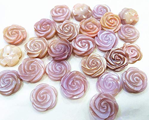 Beads Shell Elegant - 10pcs 12mm Genuine Purple Red Shell,Round Hand Carved Rose Flower Beads,Half drilled,Elegant Gift fit to Girl/Women