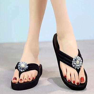 Amazon.com | AOJIAN Shoes Womens Sandals Summer Bohemian Floral Flip Flop Slide Slipper Clog Mule | Flip-Flops