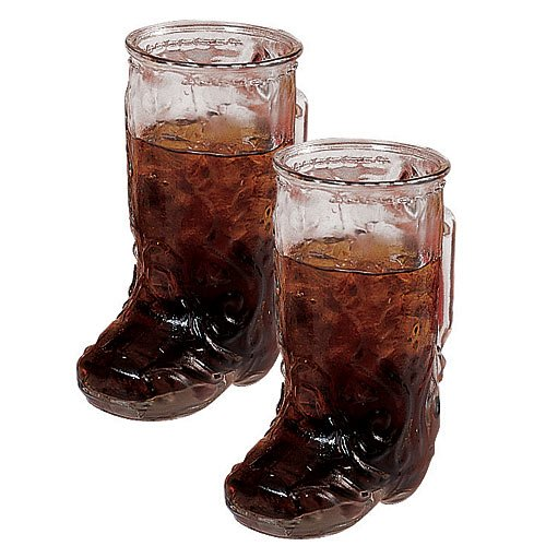 - Anchor Hocking Glass Cowboy Boot Mug