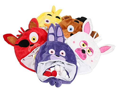 [Five Nights at Freddy's Plush Hats Set of 5 for Kids] (Five Nights At Freddys Costume Mangle)