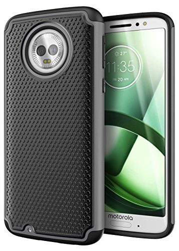 Cimo Armor Moto G6 Case with Shockproof Dual Layer Protection and Rugged Hybrid Shell for Motorola Moto G6 - Gray