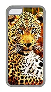 iPhone 5c case, Cute Tiger Drawing Effect iPhone 5c Cover, iPhone 5c Cases, Soft Clear iPhone 5c Covers