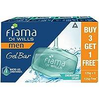 Fiama Di Wills Men Energizing Sport Gel Bar, 125g (Buy 3 Get 1 Free)