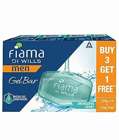 Fiama Men Energizing Sport Gel Bar, 125g (Buy 3 Get 1 Free)