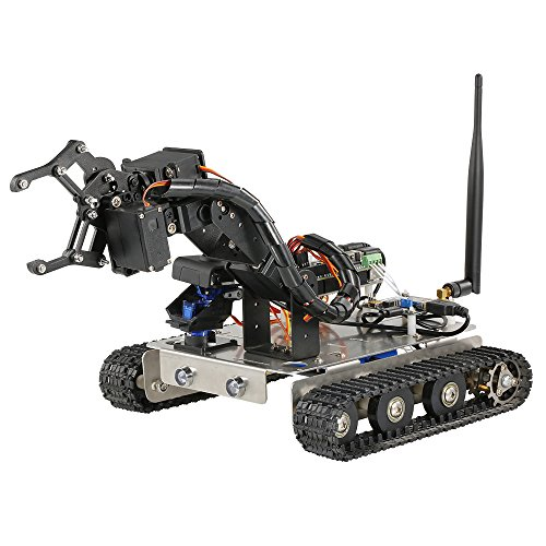 Goolsky GFS Robot Wifi Smart DIY Crawler RC Robot Tank with Manipulator 480P Camera PC Mobile Phone Control Education Tool by Goolsky