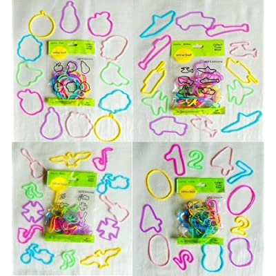 96 cts silly shaped bandz - fuit, military, music & number: Toys & Games
