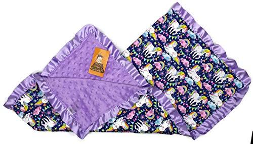 Purple Unicorn Baby Blanket