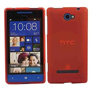 Gel Caso Cubrir Concha Para HTC Windows Phone 8S / Red