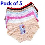 Hylong New 5pcs/lot,the underwear,lace,the cowards,panties,Low waist bud silk,cute little brief Multicolor L