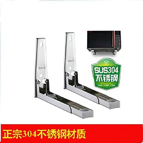 BGmdjcf Bracket Kitchen Racks Sus304 Stainless Steel Microwave Oven Frame Wall Stand), Cosmic Aluminum - Frame Cosmic